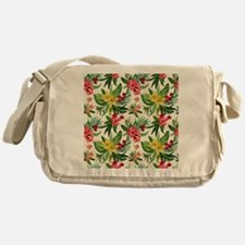 Colorful Exotic Flowers Messenger Bag