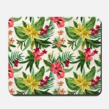 Colorful Exotic Flowers Mousepad