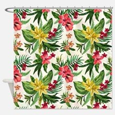 Colorful Exotic Flowers Shower Curtain