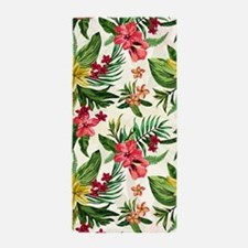 Colorful Exotic Flowers Beach Towel