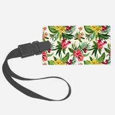 Colorful Exotic Flowers Luggage Tag