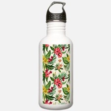 Colorful Exotic Flower Water Bottle
