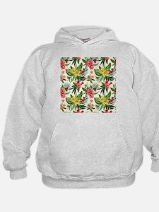 Colorful Exotic Flowers Hoodie