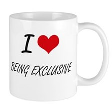 I love Being Exclusive Artistic Design Mugs
