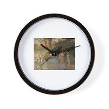 Camille Pissarro - Bathing Goose Maiden Wall Clock