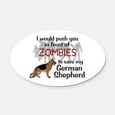 GSD vs Zombies Oval Car Magnet