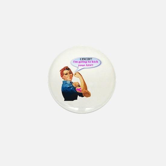 Rosie Fighting Cancer Design Mini Button (10 Pack)