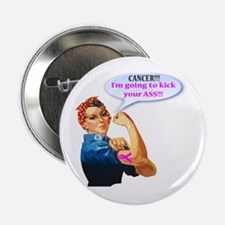 "Rosie Fighting Cancer 2.25"" Button (10 Pack)"