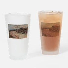 Giovanni Fattori - Strasse am Ufer Drinking Glass