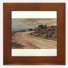 Giovanni Fattori - Strasse am Ufer des Framed Tile