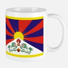Tibetan Free Tibet Flag - Peu Rangzen Mugs