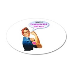 Rosie Fighting Cancer Design Wall Decal
