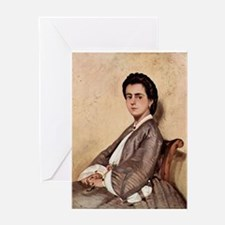 Giovanni Fattori - Porträt der Cous Greeting Cards
