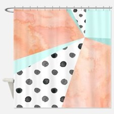 Unique Peach color Shower Curtain