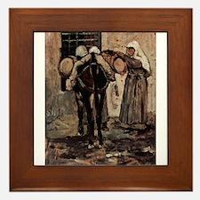 Giovanni Fattori - Nonne mit Esel Framed Tile
