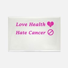 Love Health, Hate Cancer Charity Design Magnets