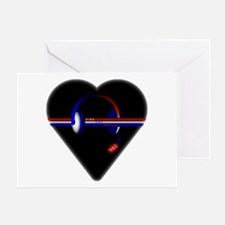 911 Dispatcher (Heart) Greeting Cards