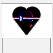 911 Dispatcher (Heart) Yard Sign