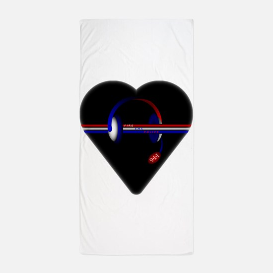 911 Dispatcher (Heart) Beach Towel
