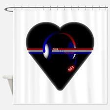 911 Dispatcher (Heart) Shower Curtain