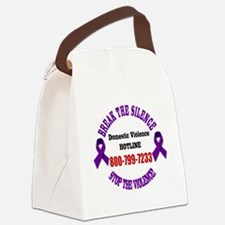 Break the Silence of Domestic Vio Canvas Lunch Bag