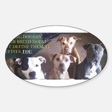 Funny Pitbull Sticker (Oval)