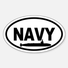 NAVY Submarine Oval Decal