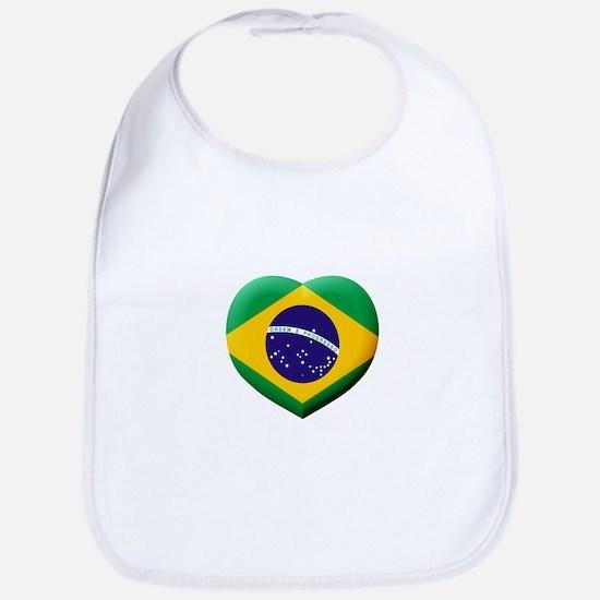 Brazilian Flag in 3D Heart Bib