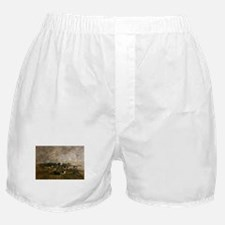 Eugene Boudin - Cows in the Fields Boxer Shorts