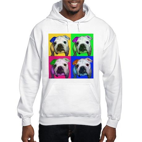 Einstein the English Bulldog Hooded Sweatshirt