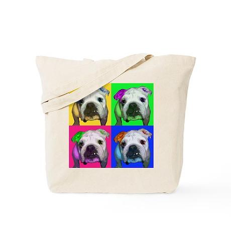 Einstein the English Bulldog Tote Bag