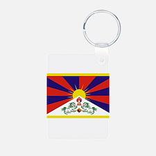 Tibetan Free Tibet Flag - Peu Rangzen Keychains