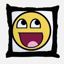 Awesome smiley face Throw Pillow
