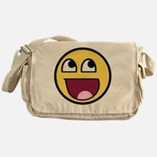 Awesome smiley face Messenger Bag