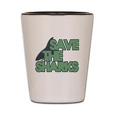 save the Sharks Shot Glass