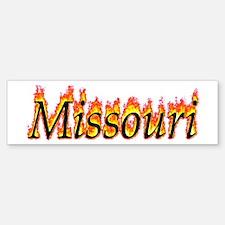 Missouri Flame Bumper Bumper Bumper Sticker