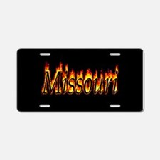 Missouri Flame Aluminum License Plate