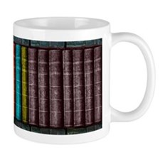 Vintage Books Bookcase Bookshelf Mugs