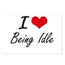 I Love Being Idle Artisti Postcards (Package of 8)
