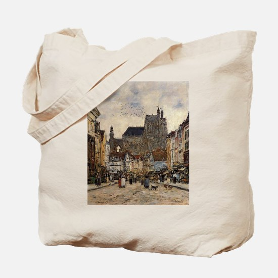 Eugene Boudin - Abbeville, Street and the Tote Bag
