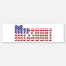 Patriotic Missouri Bumper Bumper Bumper Sticker