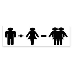 Man + Woman = Thingy (bumper sticker)