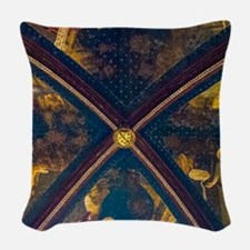 Palace Of The Popes Woven Throw Pillow