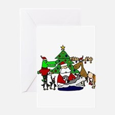 Christmas Santa and Friends Greeting Cards