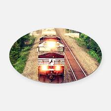 Railroading Oval Car Magnet
