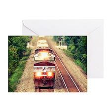 Railroading Greeting Card