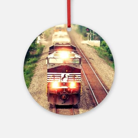 Railroading Round Ornament