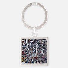Berlin Wall Square Keychain
