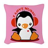 Penguin girl Woven Pillows