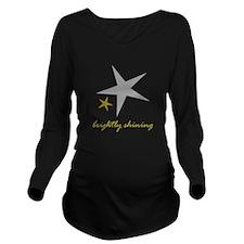 Brightly Shining Long Sleeve Maternity T-Shirt